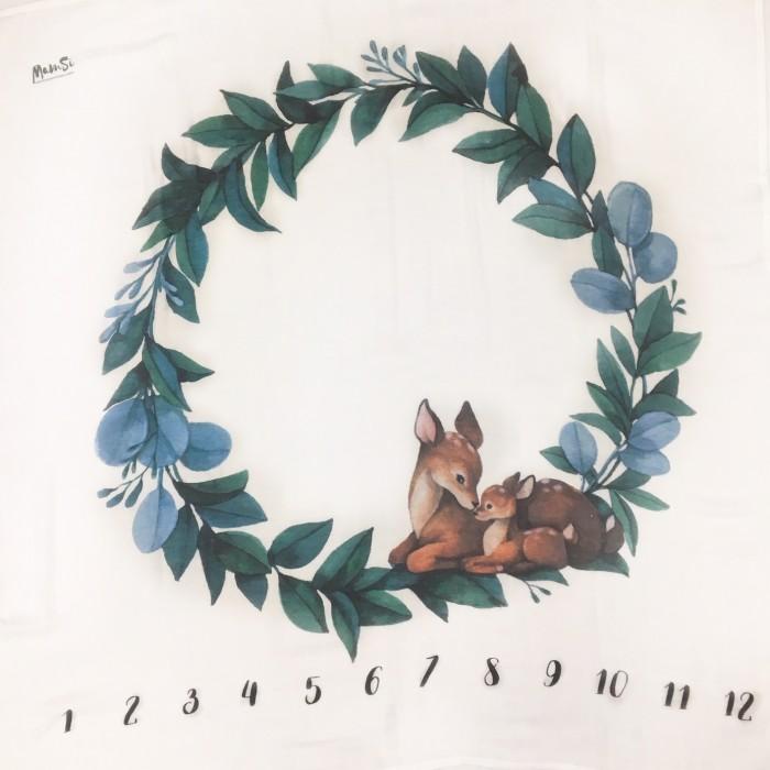 Картинка для Пеленка MamSis для фото с олененком 120х120 см