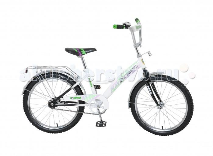 Велосипед двухколесный Navigator Fortuna 20 KiteFortuna 20 KiteВелосипед Navigator Fortuna 20 Kite - это хорошо собранный и надёжный велосипед для ребёнка. Модель подойдет для ребенка ростом 125-145 см.   Велосипед оснащен звонком и багажной корзиной. Катание на велосипеде благоприятно влияет на здоровье, укрепляет мышцы, развивает зрение, учит ориентироваться в пространстве и принимать решения.   Особенности: Тип: детский Материал рамы: сталь Амортизация: отсутствует Конструкция вилки: жесткая Конструкция рулевой колонки: неинтегрированная, резьбовая Диаметр колес: 20 дюймов Материал обода: алюминиевый сплав Двойной обод: нет Шатун: односоставной Возможность крепления боковых колес: нет Тип переднего тормоза: отсутствует Тип заднего тормоза: ножной Уровень заднего тормоза: начальный Количество скоростей: 1 Уровень каретки: начальный Конструкция каретки: неинтегрированная Тип посадочной части вала каретки: квадрат Количество звезд в кассете: 1 Количество звезд системы: 1 Конструкция педалей: платформы Конструкция руля: изогнутый Настройка положения руля: регулируемый подъем Материал рамки седла: сталь Комфорт: защита цепи, мягкая накладка на руле<br>