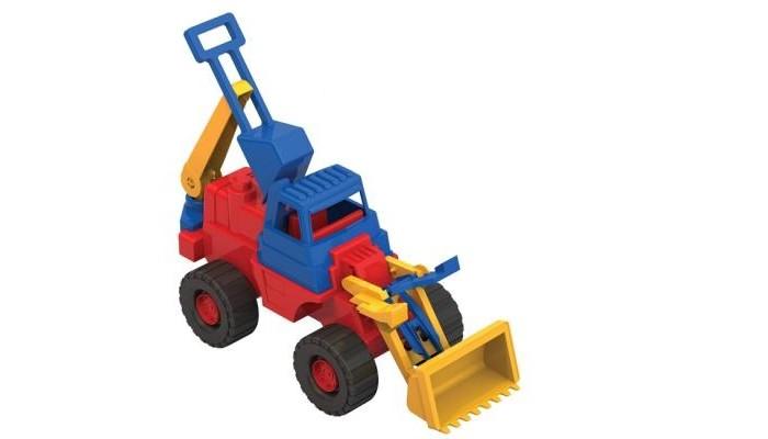 Машины Нордпласт Трактор Носорог с ковшом 24х20.5х75 см