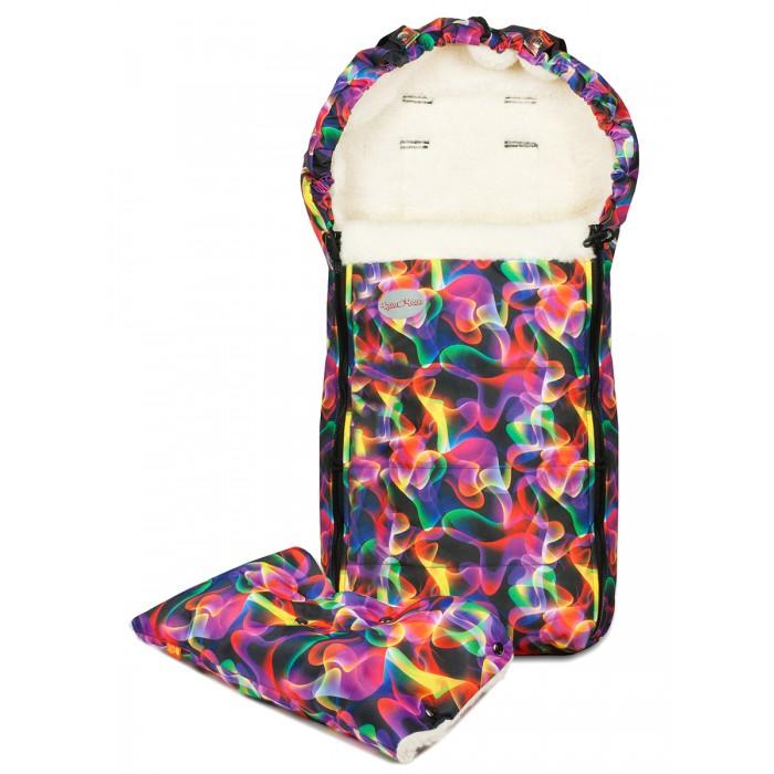 Купить Конверты для новорожденных, Чудо-чадо Комплект зимний: конверт для новорожденного и муфта на коляску Frost Пламя