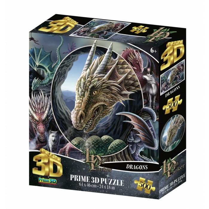 Купить Пазлы, Prime 3D Стерео пазл Коллаж Драконы (500 элементов)