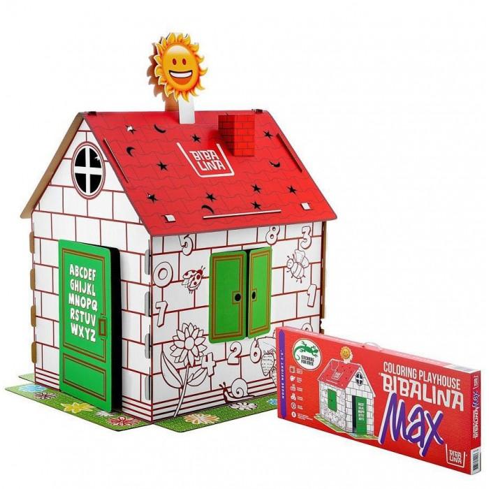 Фото - Игровые домики Bibalina Картонный домик с английским алфавитом и наклейками mochtoys раскраска картонный домик 10721