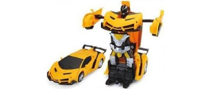 Купить Радиоуправляемые игрушки, Игротрейд Машинка-трансформер р/у со световыми эффектами М1:18