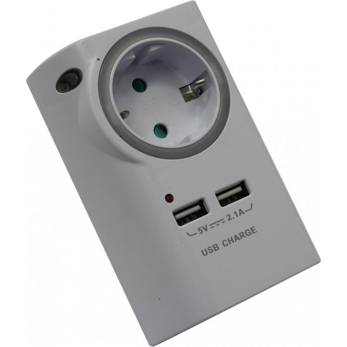 Картинка для Старт Cетевой переходник С/А SА 1ZD 2USB L c двумя USB-портами