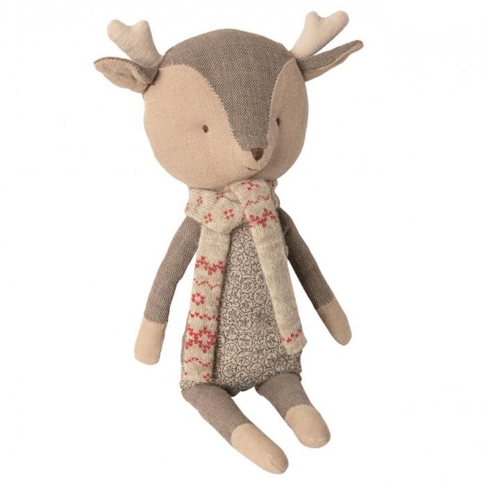 Картинка для Мягкая игрушка Maileg Зимние друзья Олененок мальчик 1