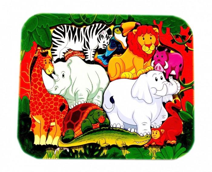 Пазлы Нескучные Игры Зоопазл Африка (11 деталей) нескучные игры зоопазл нескучные игры букашки 17 деталей
