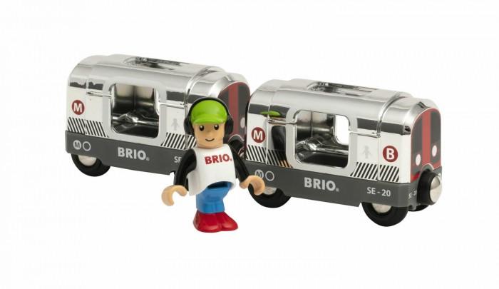 Купить Железные дороги, Brio Поезд метро Металлик