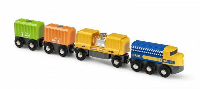 Купить Железные дороги, Brio Длинный товарный поезд