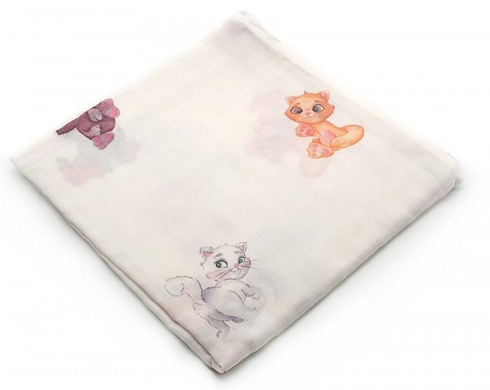 Картинка для Пеленка MamSis Cats 120х120 см