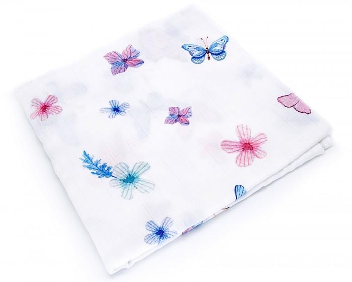 Картинка для Пеленка MamSis Бабочки 120х120 см