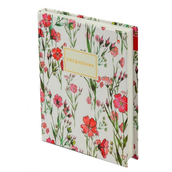 Канцелярия Альт Ежедневник недатированный Цветочный паттерн A6 256 страниц
