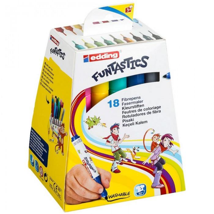 Фломастеры Edding набор 14 Funtastics 3 мм 18 цветов edding фломастеры 15 funtastics 1 мм 12 шт разноцветные