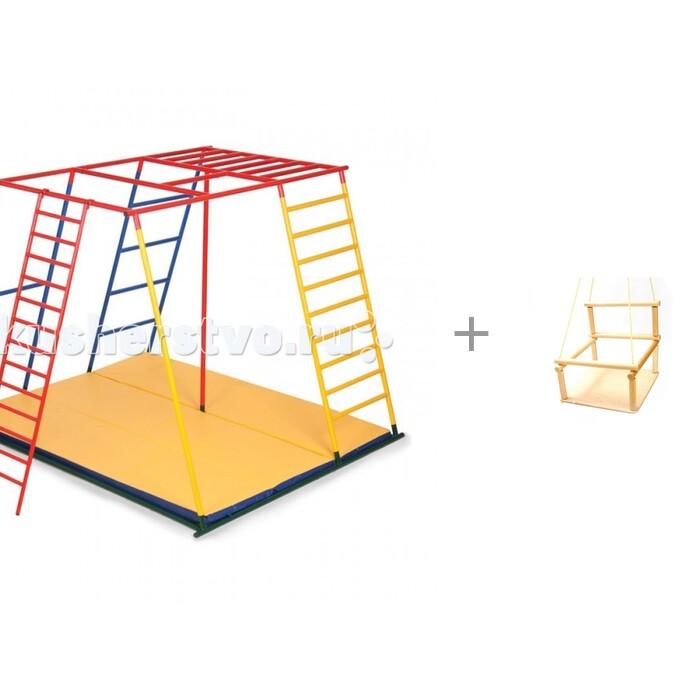 Картинка для Ранний старт Детский спортивный комплекс Олимп полная комплектация и деревянные детские качели Kidwood