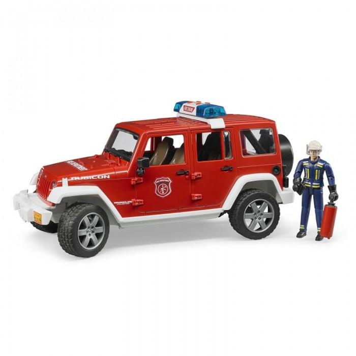 Машины Bruder Внедорожник Jeep Wrangler Unlimited Rubicon пожарный с фигуркой 02-528 1 18 scale jeep wrangler rubicon diecast metal car suv model maisto 31663 blue