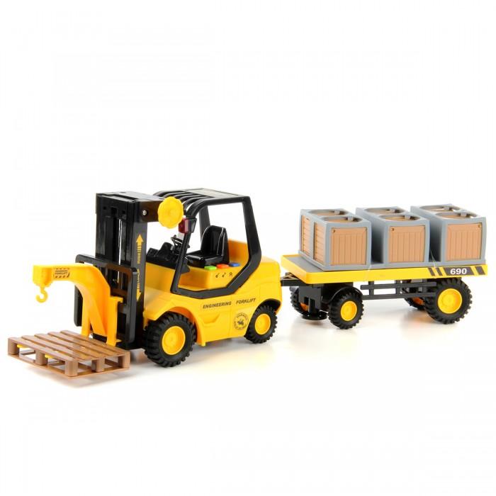 Машины Drift Погрузчик вилочный с прицепом и коробками 1:16