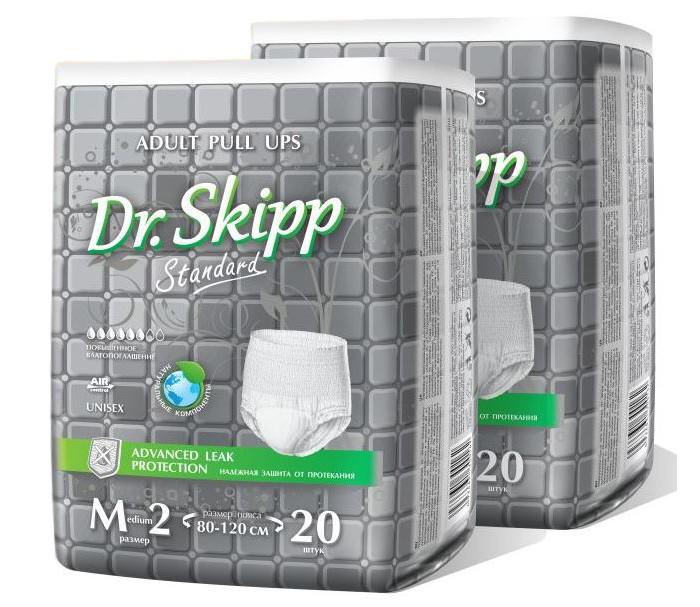 Фото - Подгузники для взрослых Dr. Skipp Белье впитывающее для взрослых Standard М-2 40 шт. абена abena абри джентельмен многоразовое впитывающее белье для мужчин xxl 1шт