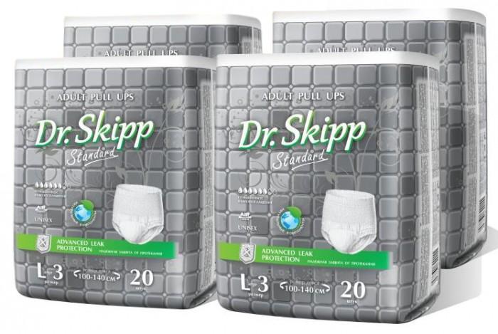Фото - Подгузники для взрослых Dr. Skipp Белье впитывающее для взрослых Standard L-3 80 шт. абена abena абри джентельмен многоразовое впитывающее белье для мужчин xxl 1шт