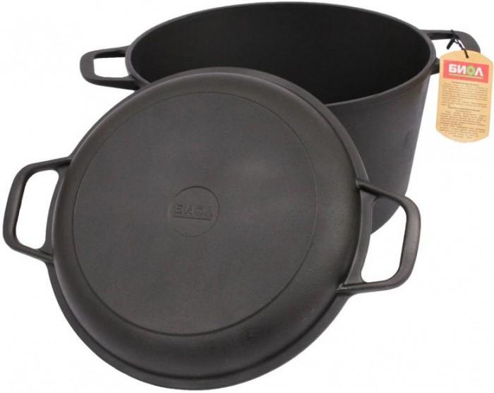 Купить Посуда и инвентарь, Биол Кастрюля чугунная крышка-сковорода 6 л