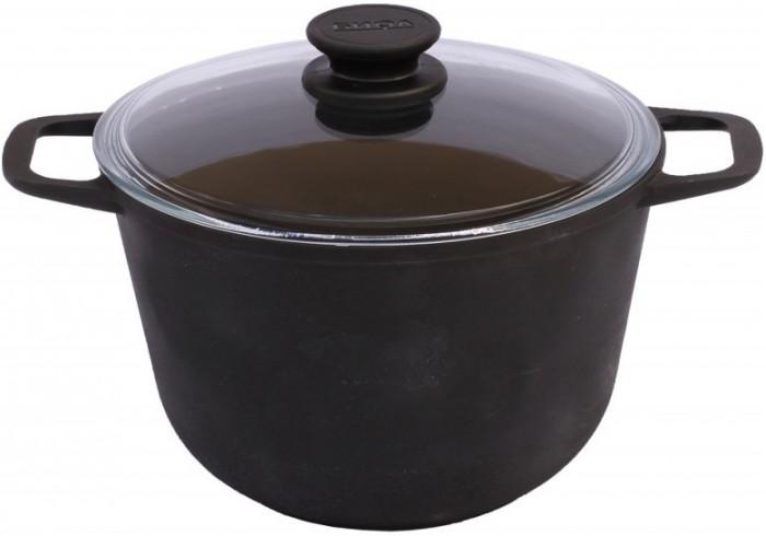 Купить Посуда и инвентарь, Биол Кастрюля чугунная со стеклянной крышкой 6 л