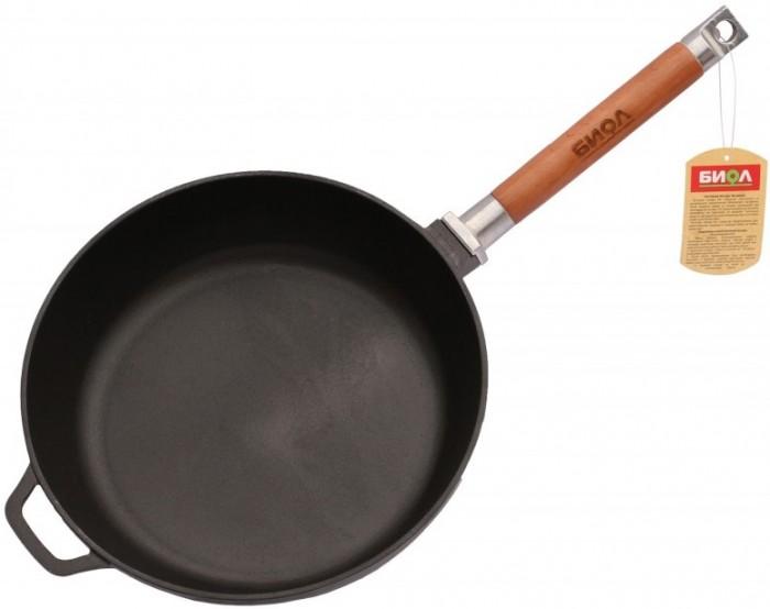Купить Посуда и инвентарь, Биол Сковорода чугунная высокая съемная ручка Классик 24 см