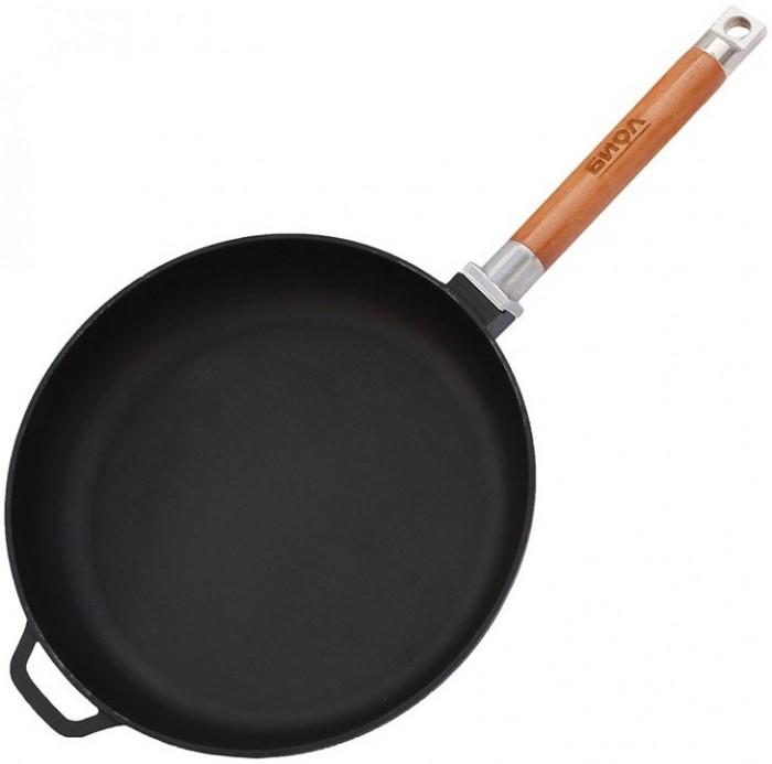 Купить Посуда и инвентарь, Биол Сковорода чугунная съемная ручка Оптима 28 см