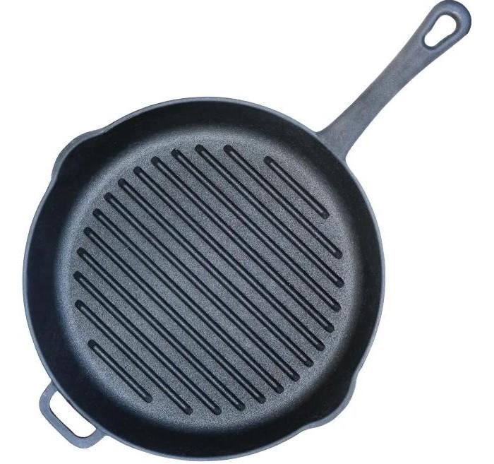 Купить Посуда и инвентарь, Биол Сковорода-гриль чугунная литая ручка 26 см