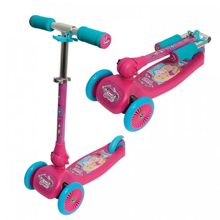Трехколесный самокат 1 Toy Barbie складной