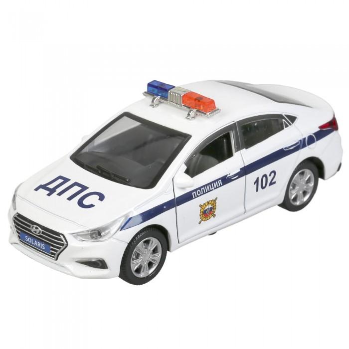 Технопарк Машина металлическая Hyundai Solaris Полиция 12 см