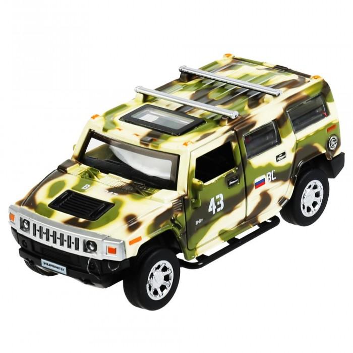Технопарк Машина металлическая со светом и звуком Hummer H2 Камуфляж 12 см