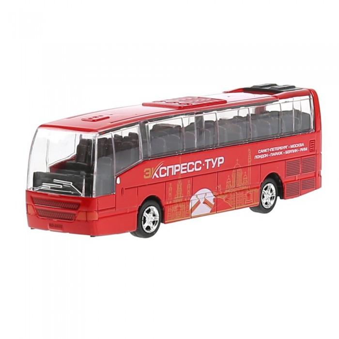 Фото - Машины Технопарк Машина металлическая со светом и звуком Рейсовый автобус машины технопарк автобус инерционный со светом и звуком 18 5 см ct10 025 2