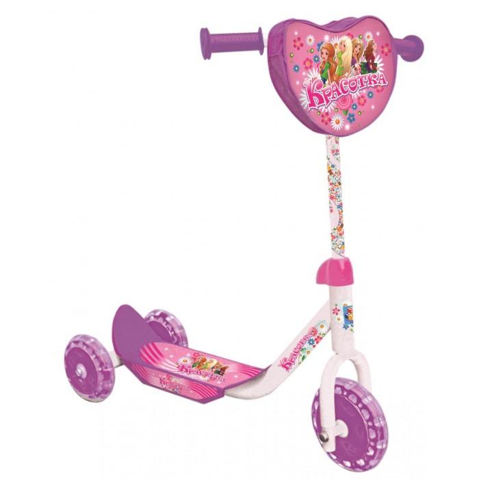 Трехколесный самокат 1 Toy Красотка Т53991Красотка Т53991Самокат 1 Toy Красотка трехколесный, созданный специально для начинающих. Ручки самоката покрыта мягким прорезиненным материалом, поэтому ребенок не натрет мозоли на ладошках.   Катание на самокате - одно из любимых занятий детей. Оно приобретает большую популярность, поскольку не требует специальных навыков. Любой ребенок будет счастлив такой покупке! Пусть ваш ребенок почувствует радость и свободу!   Особенности: Стальной руль Рама сталь, нескользящее покрытие PVC колеса - переднее 150 мм, задние 130 мм  Бесшумное движение без тряски  Ножной тормоз  Сумочка на руле Максимальная нагрузка: 35 кг   Размеры: 60х68х11 см Вес 2.75 кг<br>