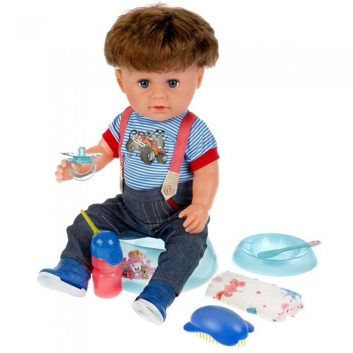 Картинка для Куклы и одежда для кукол Карапуз Кукла функциональная Мишенька 45 см