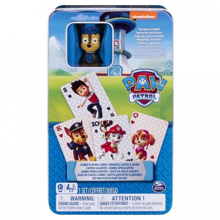 Настольные игры Щенячий патруль (Paw Patrol) Настольная карточная игра в металлической коробке