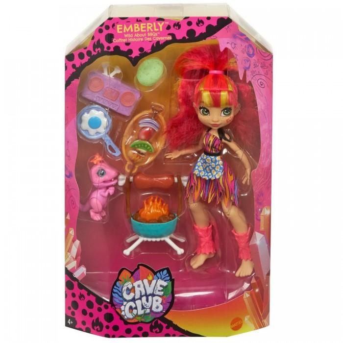 Cave Club Игровой набор с куклой Эмберли и барбекю