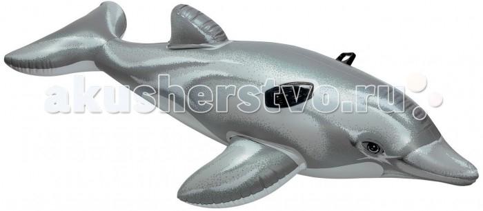 Матрасы для плавания Intex Дельфин надувной с ручками intex монстр шина с ручками 114 см арт 56268