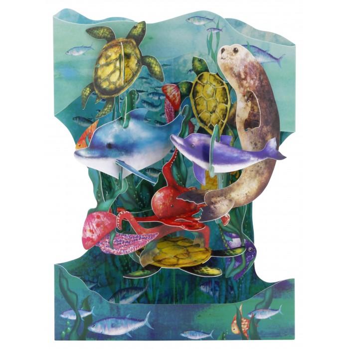 Купить Товары для праздника, Santoro London Объемная открытка Подводный мир