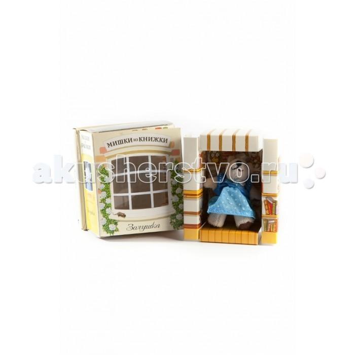 Книжки-игрушки Мишки из книжки Золушка. Книга+игрушечный медведь раннее развитие айрис пресс волшебный театр золушка