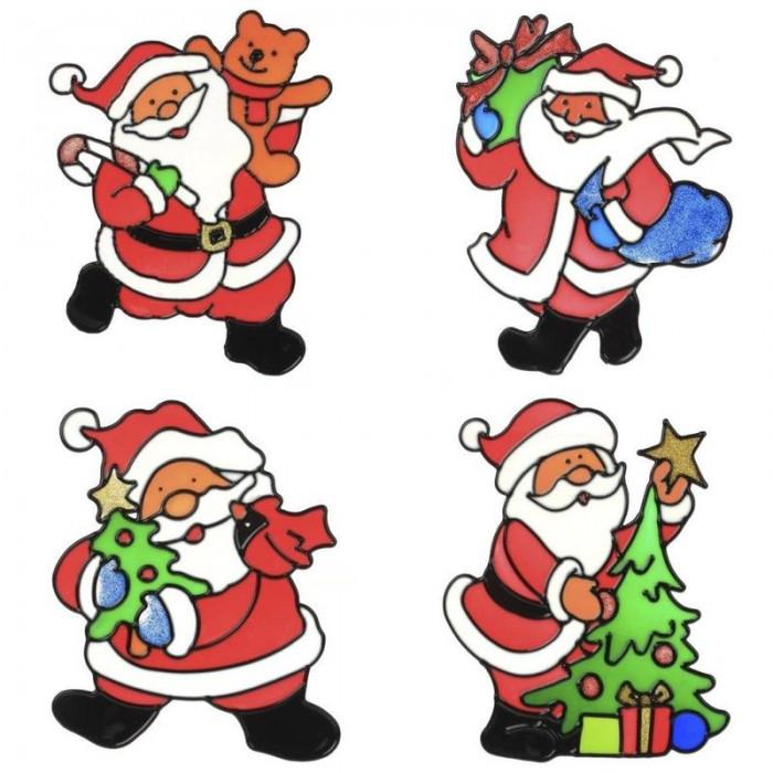 Новогодние украшения Attache Наклейка новогодняя Санта 17x25 см наклейка