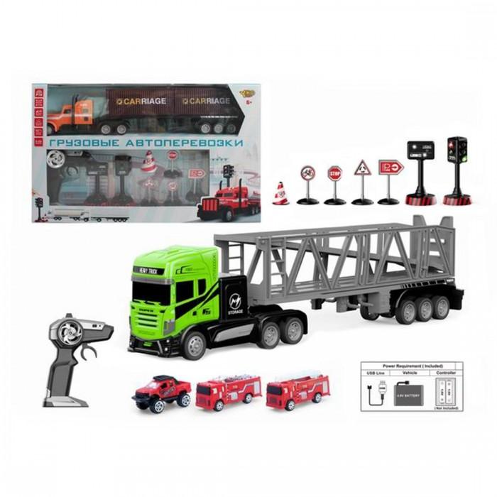 Радиоуправляемые игрушки Наша Игрушка Игровой набор Автовоз M1178-5C