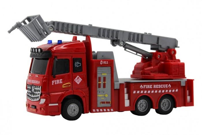 Картинка для Машины Funky Toys Пожарная машина с выдвижной лестницей Die-cast