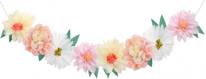 Фото - Товары для праздника MeriMeri Гирлянда Большие цветы товары для праздника merimeri гирлянда кисточки