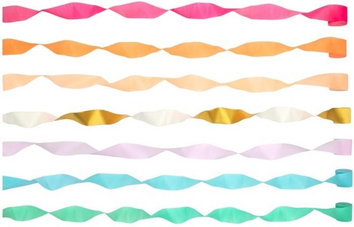 Фото - Товары для праздника MeriMeri Гирлянда Яркий серпантин товары для праздника merimeri гирлянда кисточки
