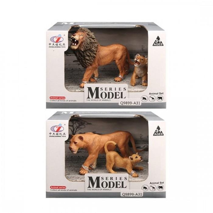 игровые фигурки Игровые фигурки Наша Игрушка Игровые фигурки Лев с львенком