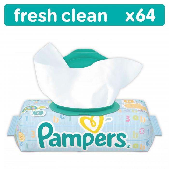 Салфетки Pampers Влажные салфетки Baby Fresh Clean 64 шт. bella влажные салфетки baby happy молоко и мед 64 шт