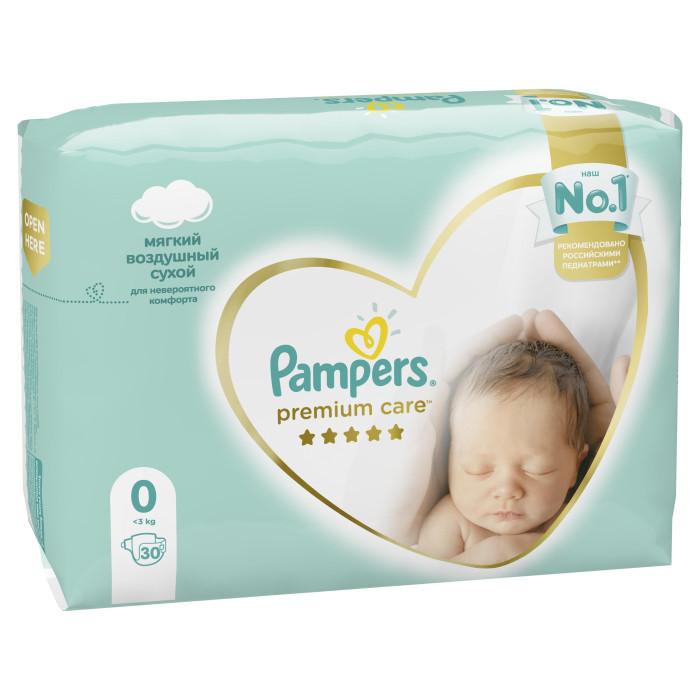 Подгузники Pampers Подгузники Premium Care р.0 (1-2.5 кг) 30 шт. pampers premium care 1