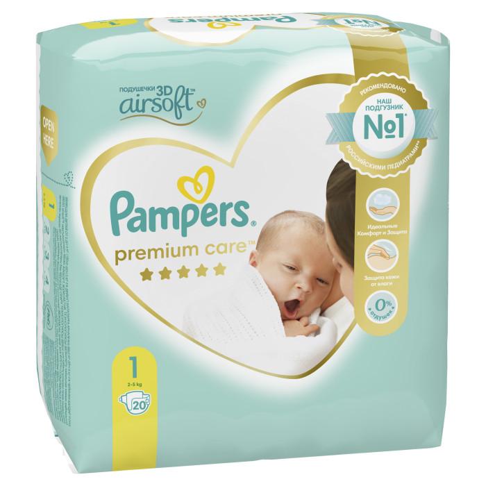 Подгузники Pampers Подгузники Premium Care Newborn р.1 (2-5 кг) 20 шт.