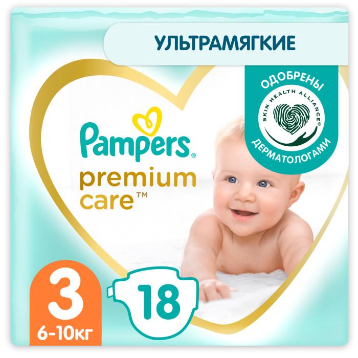 Подгузники Pampers Подгузники Premium Care р.3 (5-9 кг) 20 шт. pampers подгузники pampers premium care 5 9 кг 3 размер 20 шт