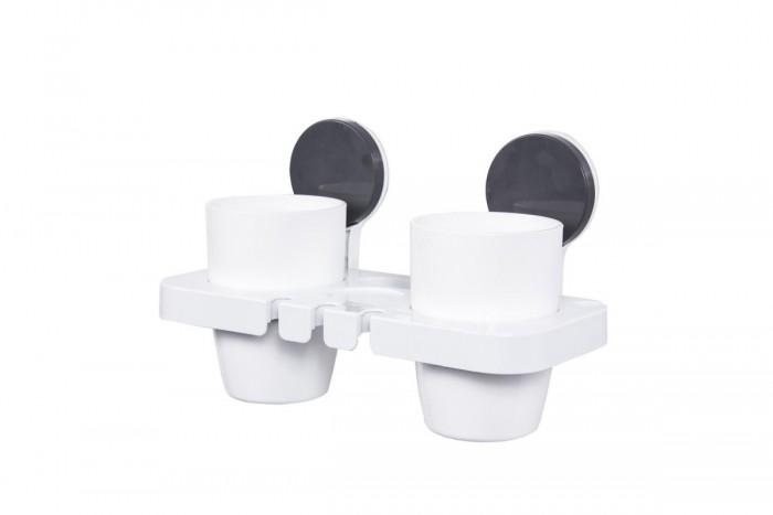 Аксессуары для ванн Bradex Стаканы для зубных щеток и пасты на липучке