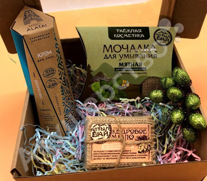 косметика для мамы Косметика для мамы НатурВектор Подарочный набор Утреннее умывание: крем, мыло, мочалка