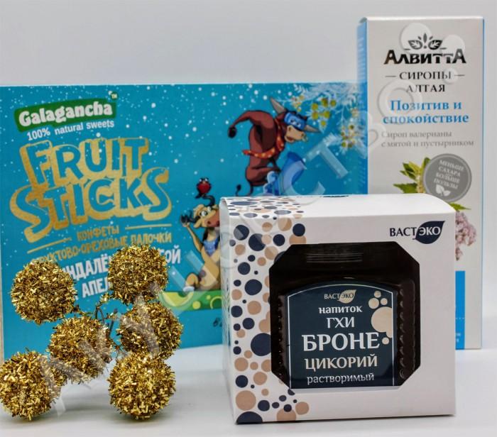 НатурВектор Подарочный набор Позитив и спокойствие: сироп, цикорий, конфеты